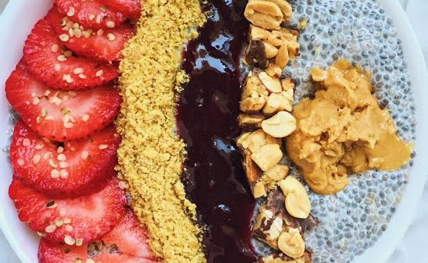 Peanut Butter and Jelly Chia Bowls | Kitchen Witch
